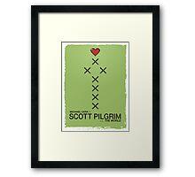 Minimalist Scott Pilgrim Poster Framed Print