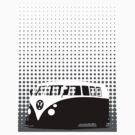 Halftone - VW Splitty Camper Van by Richard Yeomans