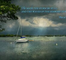 Inspirational - Hope - Sailor - Psalm 107-29 by Mike  Savad