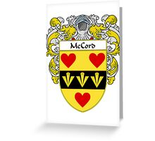 McCord Coat of Arms/Family Crest Greeting Card