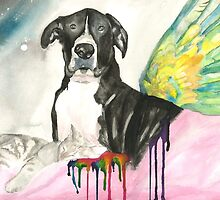 Cooper at Rainbow Bridge by Melody Hall-Fuller
