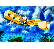 A digital painting of 14-bis (Quatorze-bis) Pioneer Canard Biplane Photographic Print