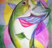 Big Mouth Bass by Loretta Nash