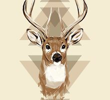 Geometric Deer by JoeConde