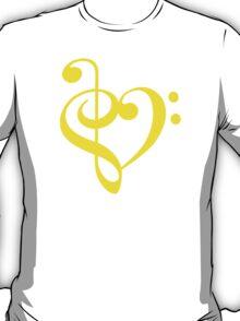 Treble-Bass Heart YELLOW T-Shirt