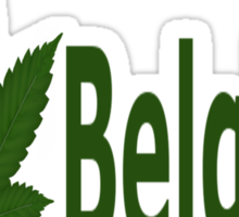 0198 I Love Belgium  Sticker