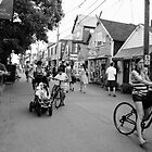 Street Scene at Bear Skin Neck Rockport MA by Rebecca Bryson
