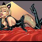 Sexy Blond Kitty Cat by Al Rio by alrioart