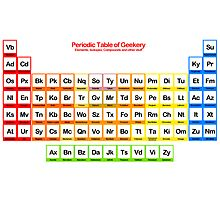 Periodic Table of Geekery Photographic Print