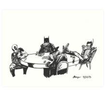 Poker At Drews Art Print