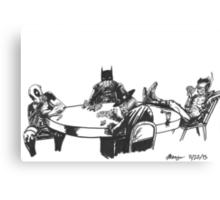 Poker At Drews Canvas Print