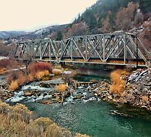 Double Steel Truss Bridge Over The Weber River by Brenton Cooper