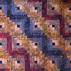 """Autumn Leaves"" Log Cabin Quilt by Jean Gregory  Evans"