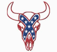 REBEL STEER SKULL red white and blue Kids Clothes