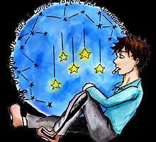 """TFIOS - """"My Thoughts Are Stars I Cannot Fathom Into Constellations"""" [Black Background] by charsheee"""
