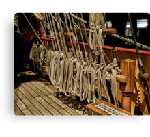 The Barque Europa........which rope shall I pull to make it go faster ?  Canvas Print