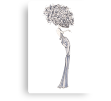 Fashion Illustration 'Blue Willow Dress' Fashion Art Canvas Print