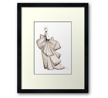 Fashion Illustration 'Silk Bows' Fashion Art Framed Print