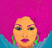 Pam Grier Aka Jackie Brown. XL version by Saundra Myles