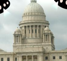 Aliens invade Providence Rhode Island Sticker