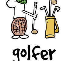 Nosebody - Golfer by CarollLewis