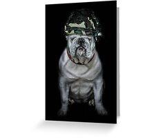 Private Bulldog 2 Greeting Card