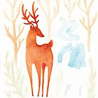 Stag and Clothes Ghost by platypusradio