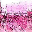 pink - huddersfield train station by H J Field