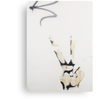 Throw Up The Peace Sign. Canvas Print