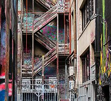 Hosier Lane,  Melbourne 1 by Pauline Tims