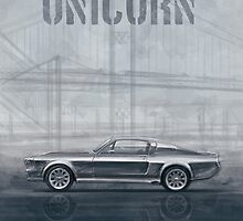 Ford Mustang Eleanor Unicorn Movie Inspired Muscle Car by merhab