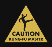 Caution Kung-Fu Master by best-designs
