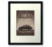 Chocolate - Volkswagen Beetle - Vintage VW Bug Framed Print