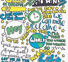 """Unpredictable"" Lyric Drawing by Drawingsbymaci"