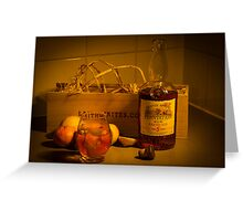Dark Rum Fine Art Greeting Card