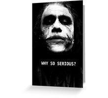The Joker. Greeting Card