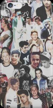 One Direction Collage by Deborah  Stormborn