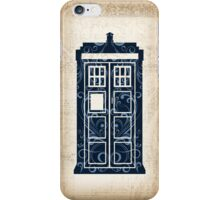 Filigree TARDIS Paper iPhone Case/Skin
