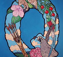 The Letter Q Full Painting by alphabetbyjason