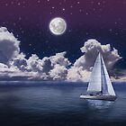 Moonlight Sailing by Walter Parada