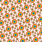 Rainbow Polka Dots Pattern by Almdrs