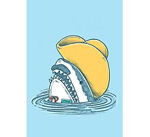 Funny Hat Shark Photographic Print