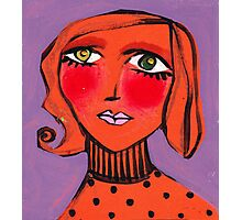 Twiggy Tangerine Photographic Print