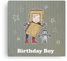 Cardboard Kid Robot (Little Stars Collection) Canvas Print