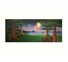 View From The Park Art Print
