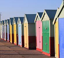 Beach huts by Emma Bennett