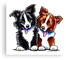 Little League Border Collies Canvas Print