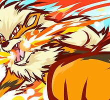 Arcanine | Fire Fang by ishmam