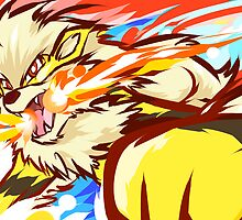 Shiny Arcanine | Fire Fang by ishmam