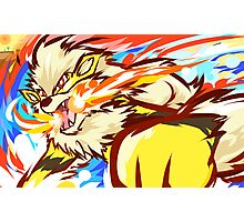 Shiny Arcanine   Fire Fang Photographic Print